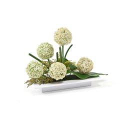 LAMELA doniczka osłonka ikebana prostokątna biała