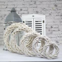 Wianek wiklinowy biały 45cm