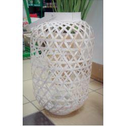 Lampion bambusowy pleciony mały podłużny