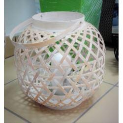 Lampion bambusowy pleciony mały pękaty