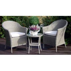 FLORALAND Zestaw Celebes(stolik+2 fotele poduszką)
